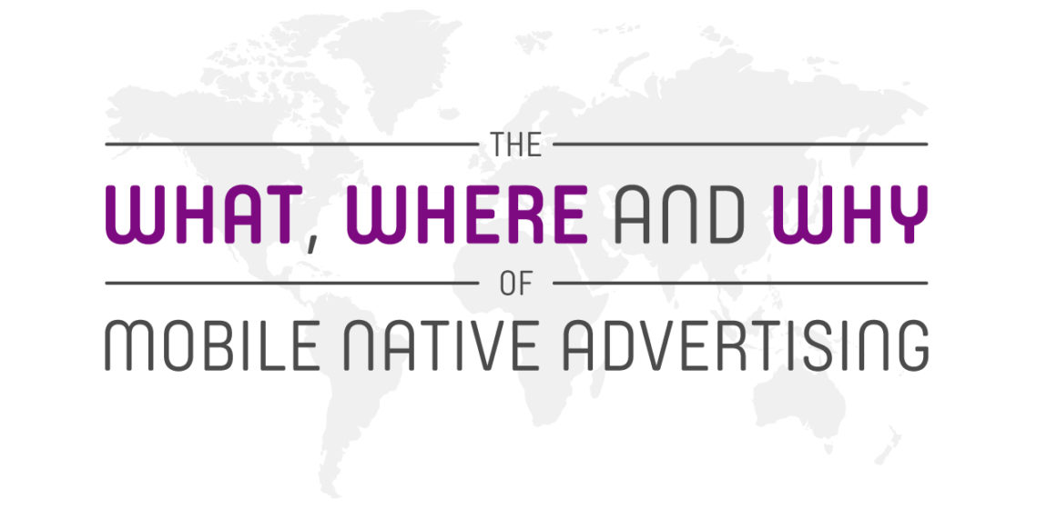 mobile native advertising infographic