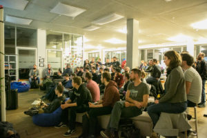 Photograph from the Golang meetup in Berlin